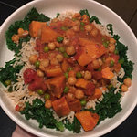 gluten free low fpdmap sweet potato chickpea coconut curry