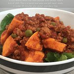 Meat free chilli with sweet potato