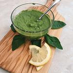 Healthy 5 minute basil pesto