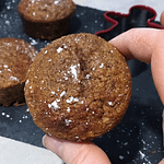 close up of gingerbread muffin