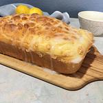 Glazed lemon drizzle loaf
