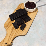 chocolate bar on a wooden board