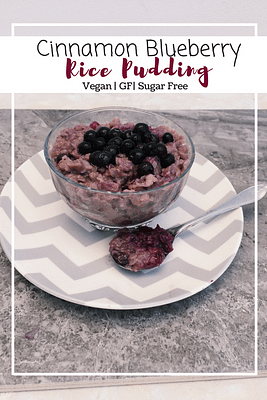Cinnamon Blueberry Rice Pudding (GF, VG, SF)