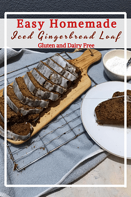 Iced Gingerbread Loaf (GF, DF)