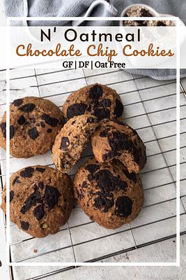 Oatmeal Chocolate Chip Cookies (GF, DF, Oat Free)