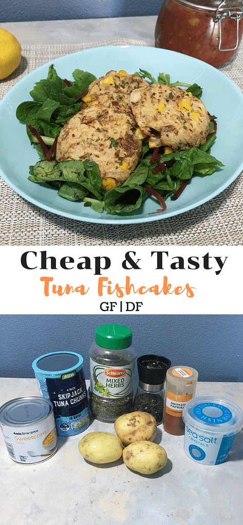 tuna fishcakes with ingredients
