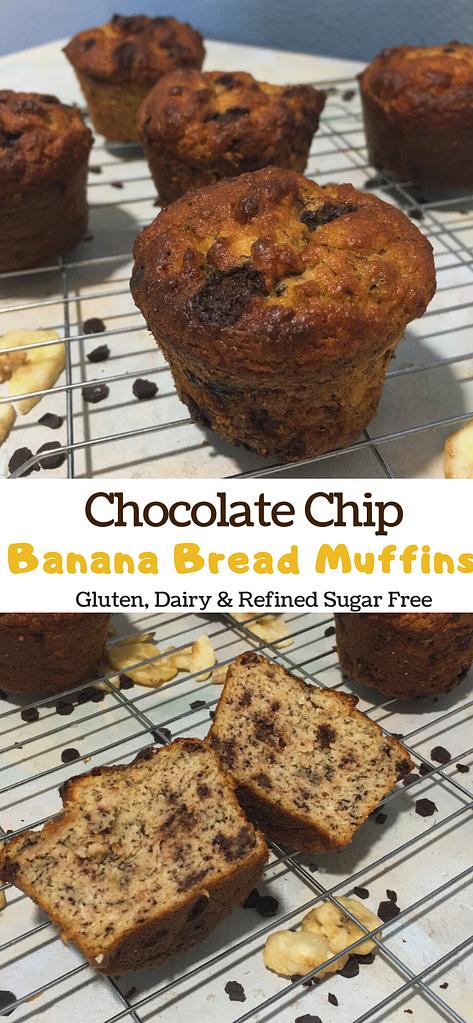 chocolate chip banana bread muffins pinterest photo