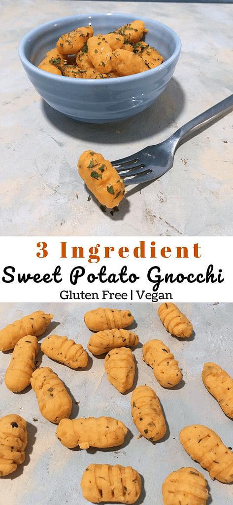 twin photo of sweet potato gnocchi pinterest image