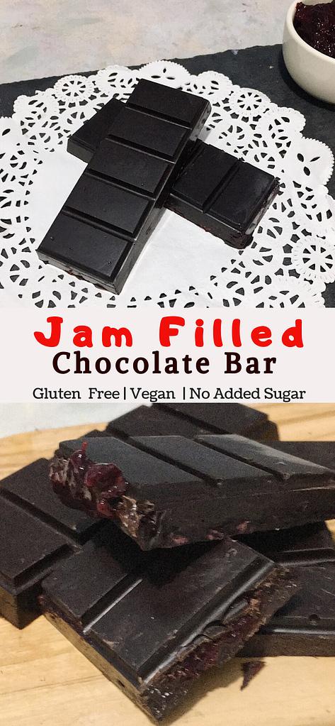 jam filled chocolate bar