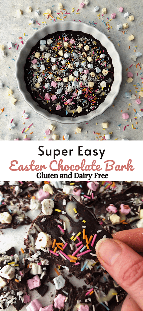 duo image of easter chocolate bark