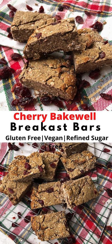 cherry bakewell breakfast bars