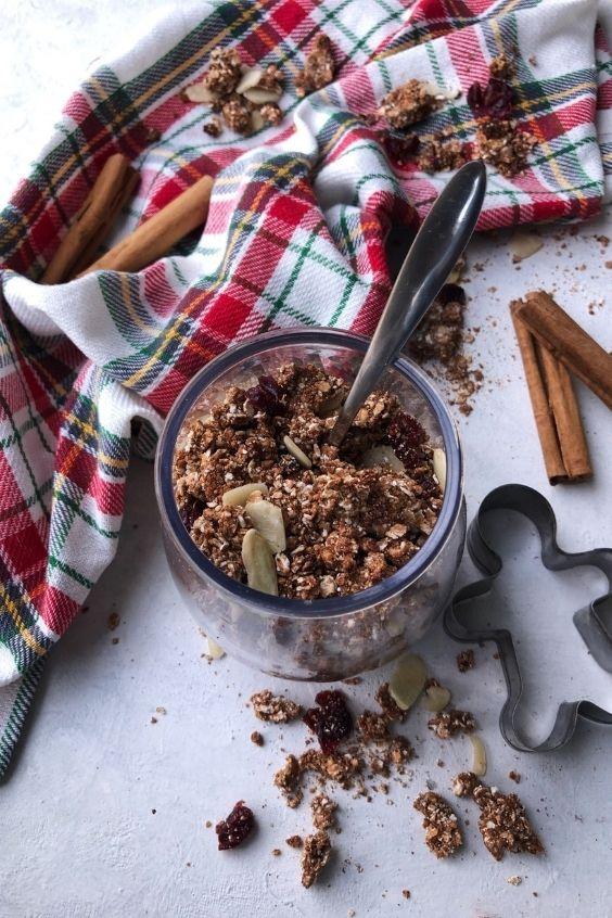 Gingerbread Granola (Gluten Free, Vegan, Oat Free)
