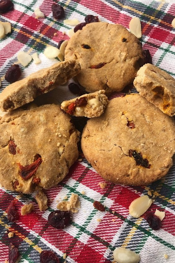 Orange Hazelnut and Cranberry Cookies (Gluten Free, Vegan)