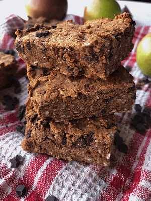Apple Spice Chocolate Chip Breakfast Bars (Gluten Free, Dairy Free, Vegan Option)