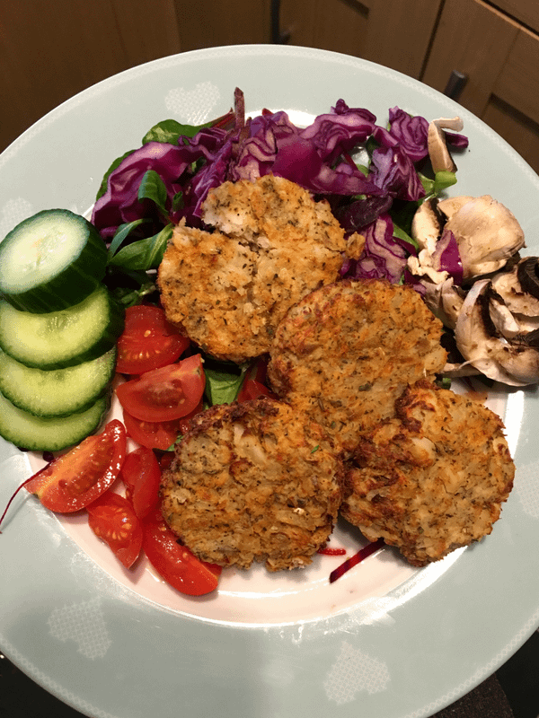 Quick and easy gluten and dairy free cod fishcakes