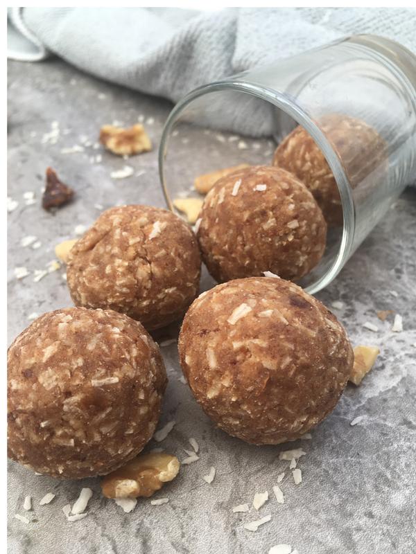 Coconut cashew walnut protein balls (gf, vg, grain free)