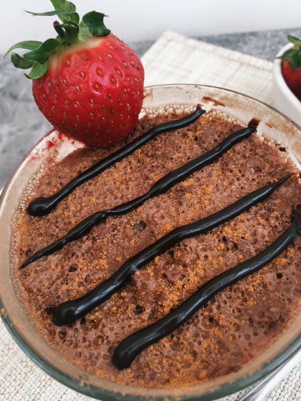 Chocolate brownie chia pudding