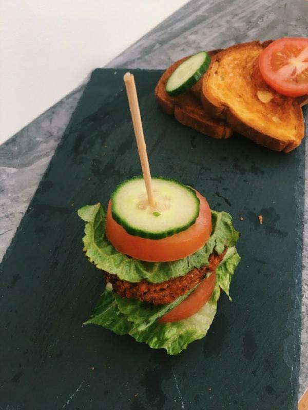 Sweet potato tofu quinoa burgers
