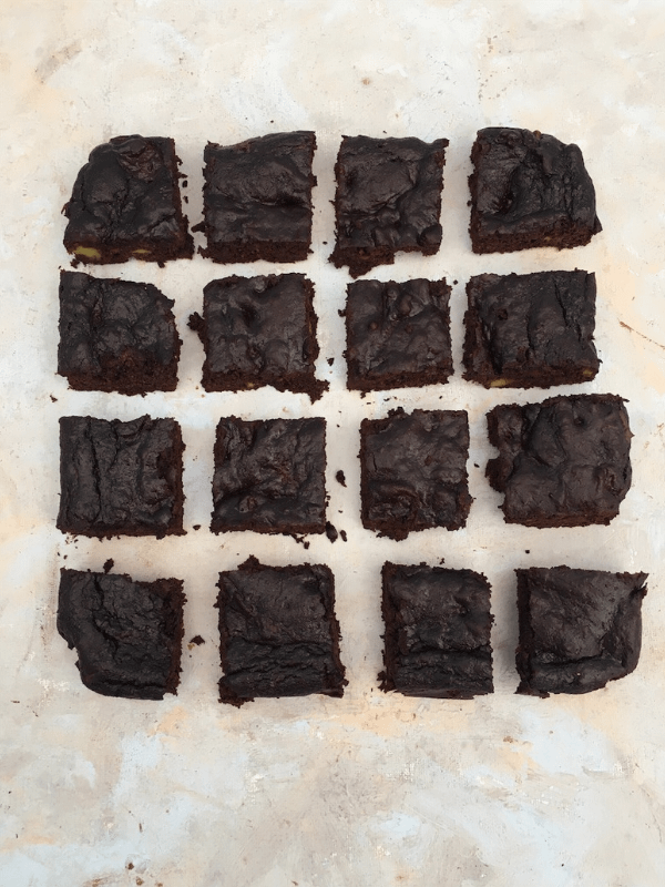 Chocolate avocado brownies