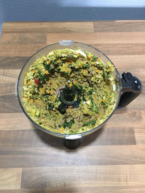ingredients blender together