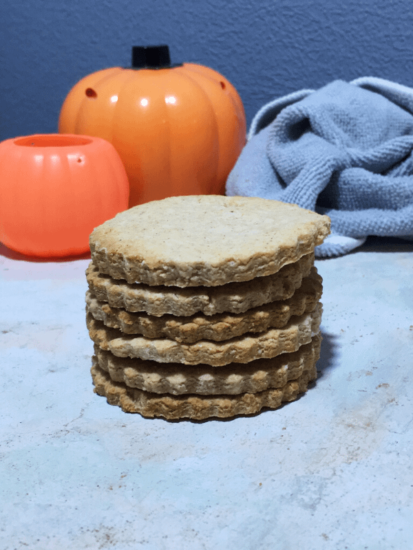 stack of pumpkin spiced cookies