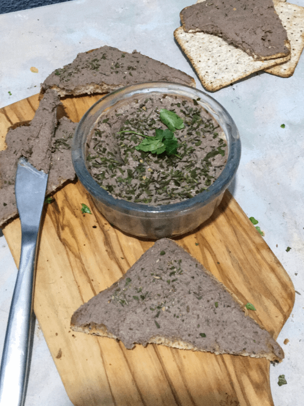 bowl of pate and toast