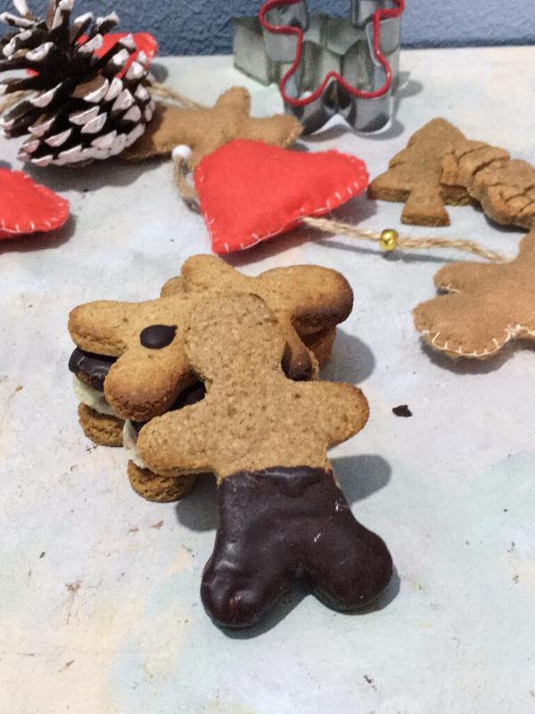 flatllay of gingerbread cookies