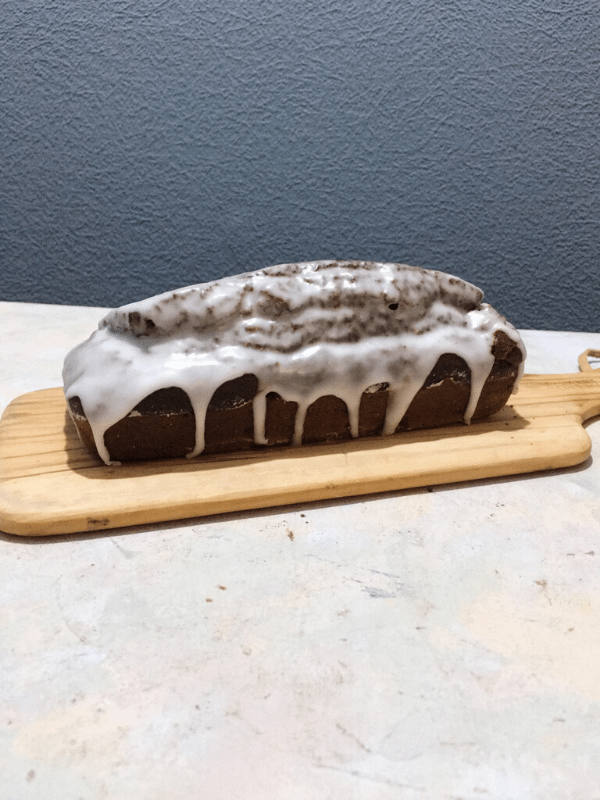 iced gingerbread loaf