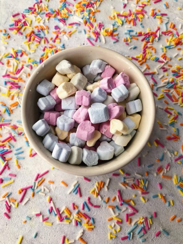 mini marshmallows and sprinkles