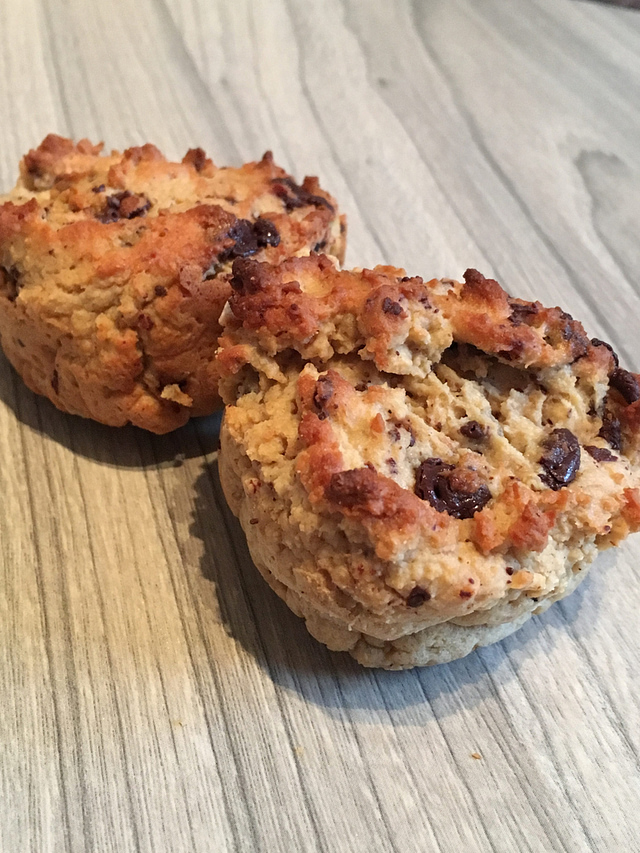 Gluten and dairy free protein chocolate chip muffins