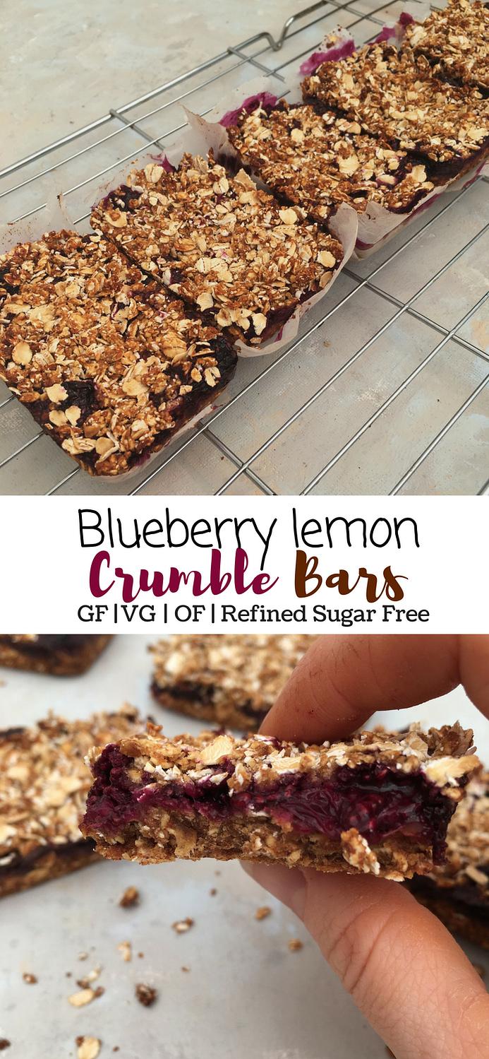 blueberry lemon crumble bars