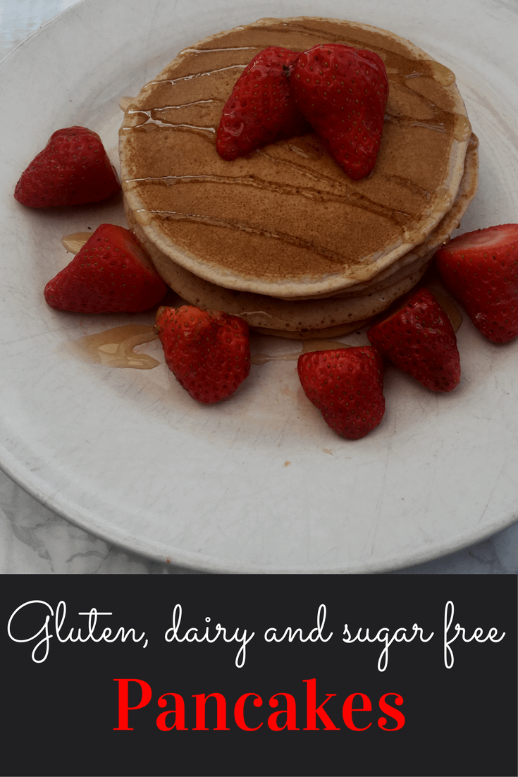 Sugar gluten and dairy free pancakes