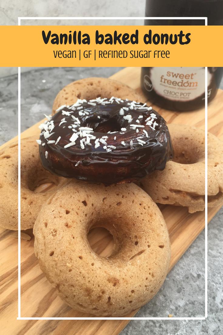 Vanilla baked donuts (VG,GF,Refined sugar free)