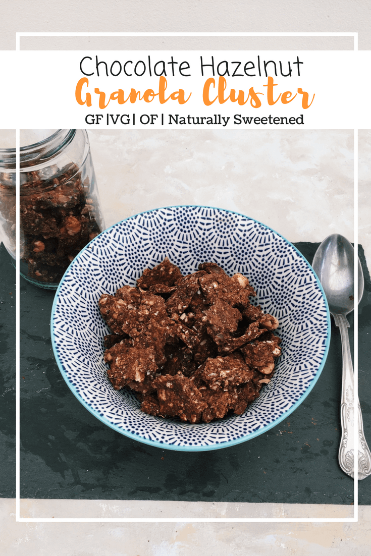 Chocolate Hazelnut Granola Clusters (GF, VG, OF, Naturally Sweetened)