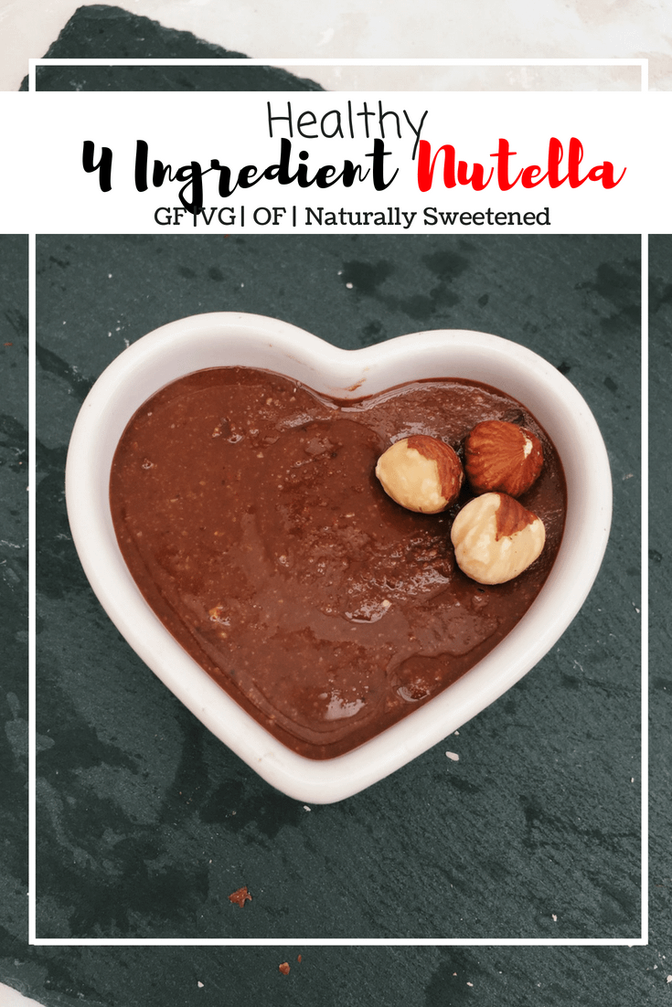 Healthy 4 ingredient Nutella (GF, VG, OF, Naturally Sweetened)