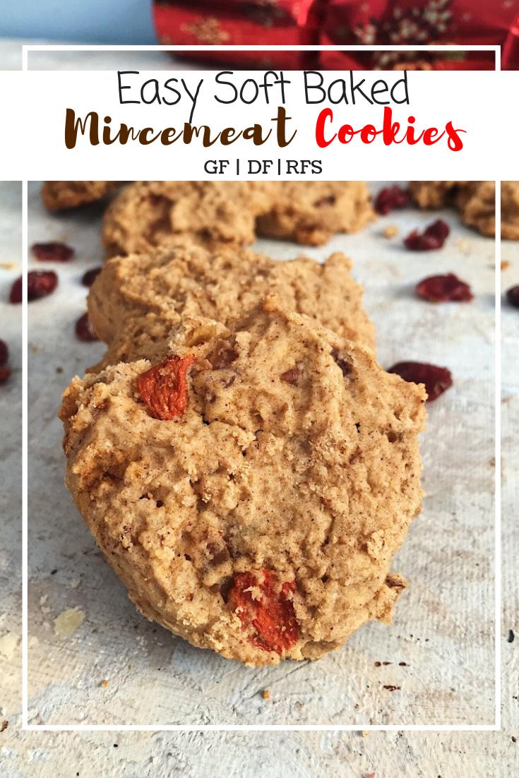 Easy Mincemeat Cookies (GF, DF, RFS)