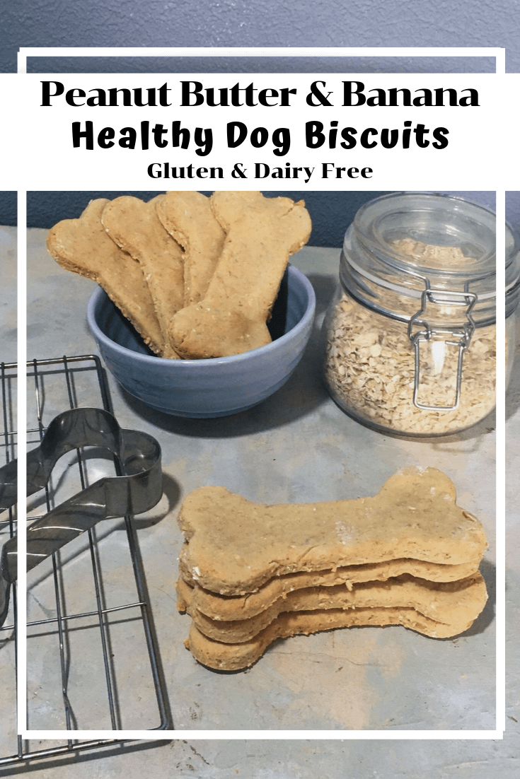 Peanut Butter and Banana Dog Biscuits (GF, DF)