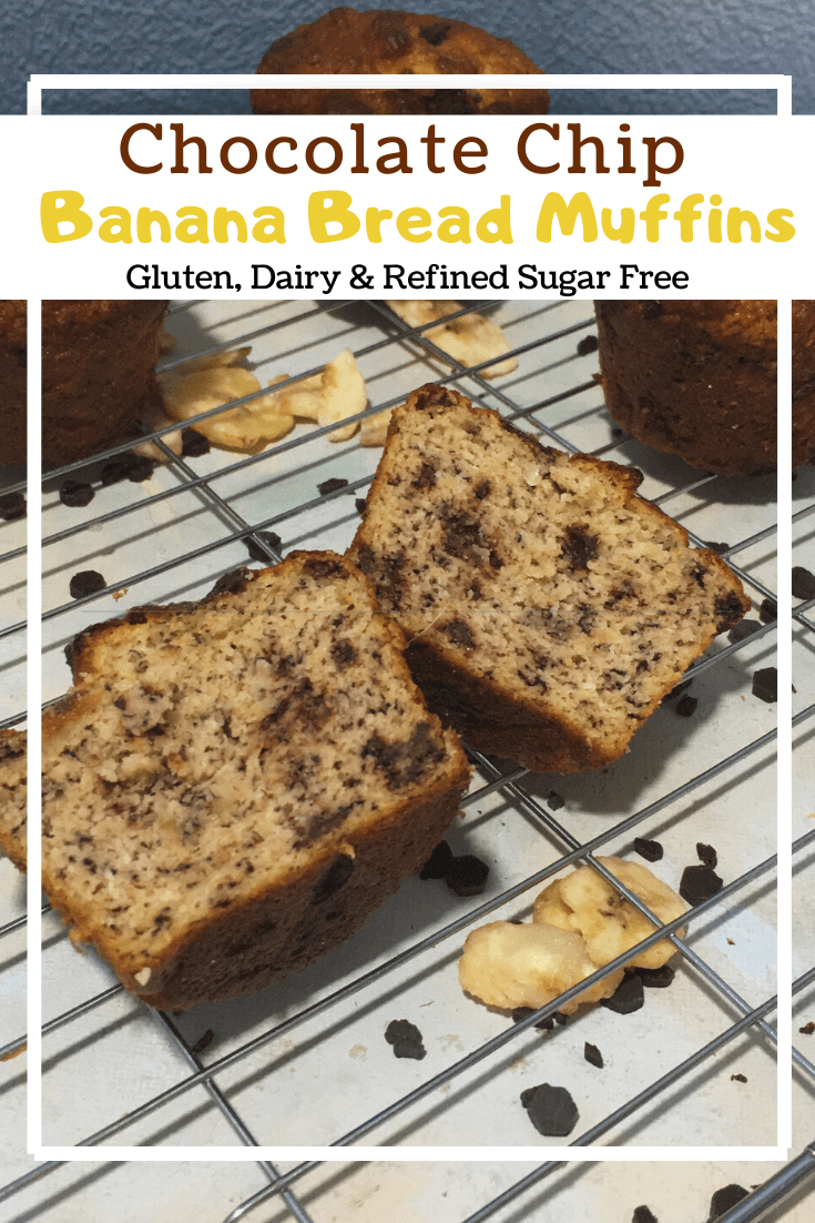Chocolate Chip Banana Bread Muffins (GF, DF, RSF)