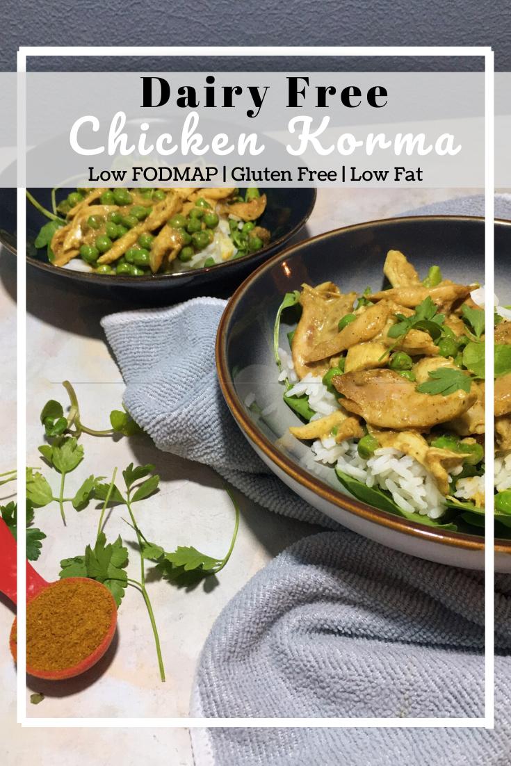 Dairy Free Chicken Korma (Low Fat & Low FODMAP)