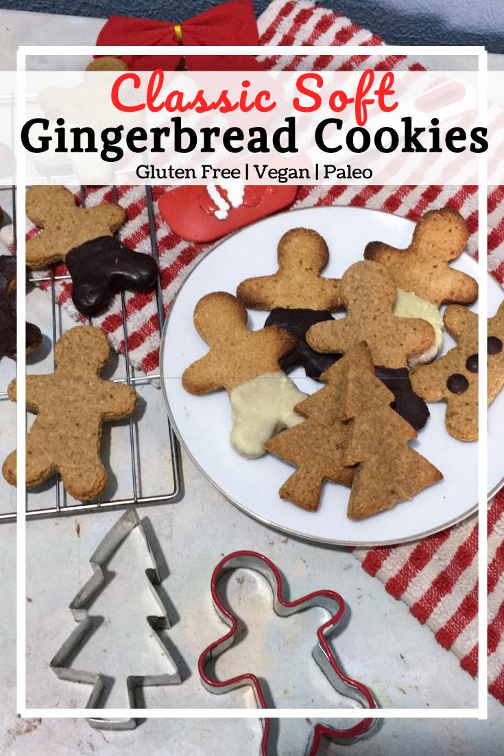 Vegan Gingerbread Cookies (GF, Paleo)
