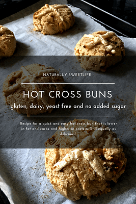 Healthy lower carb higher protein hot cross buns (GF,DF,SF)