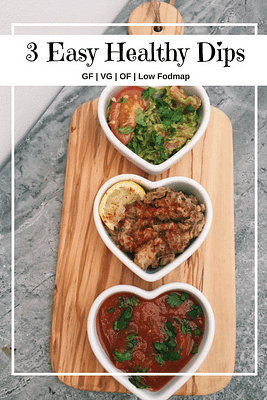 3 Easy Healthy Dips (GF, VG, OF, low fodmap)