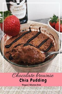 Chocolate brownie chia pudding (GF&VG)