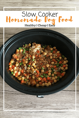 Homemade Dog Food (Slow Cooker)
