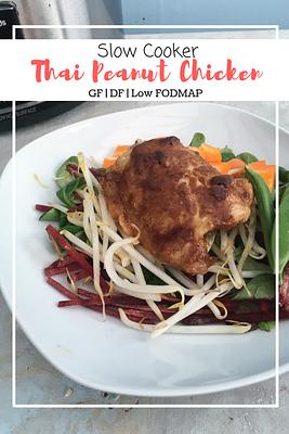 Slow Cooker Thai Peanut Chicken (GF, DF, Low FODMAP)